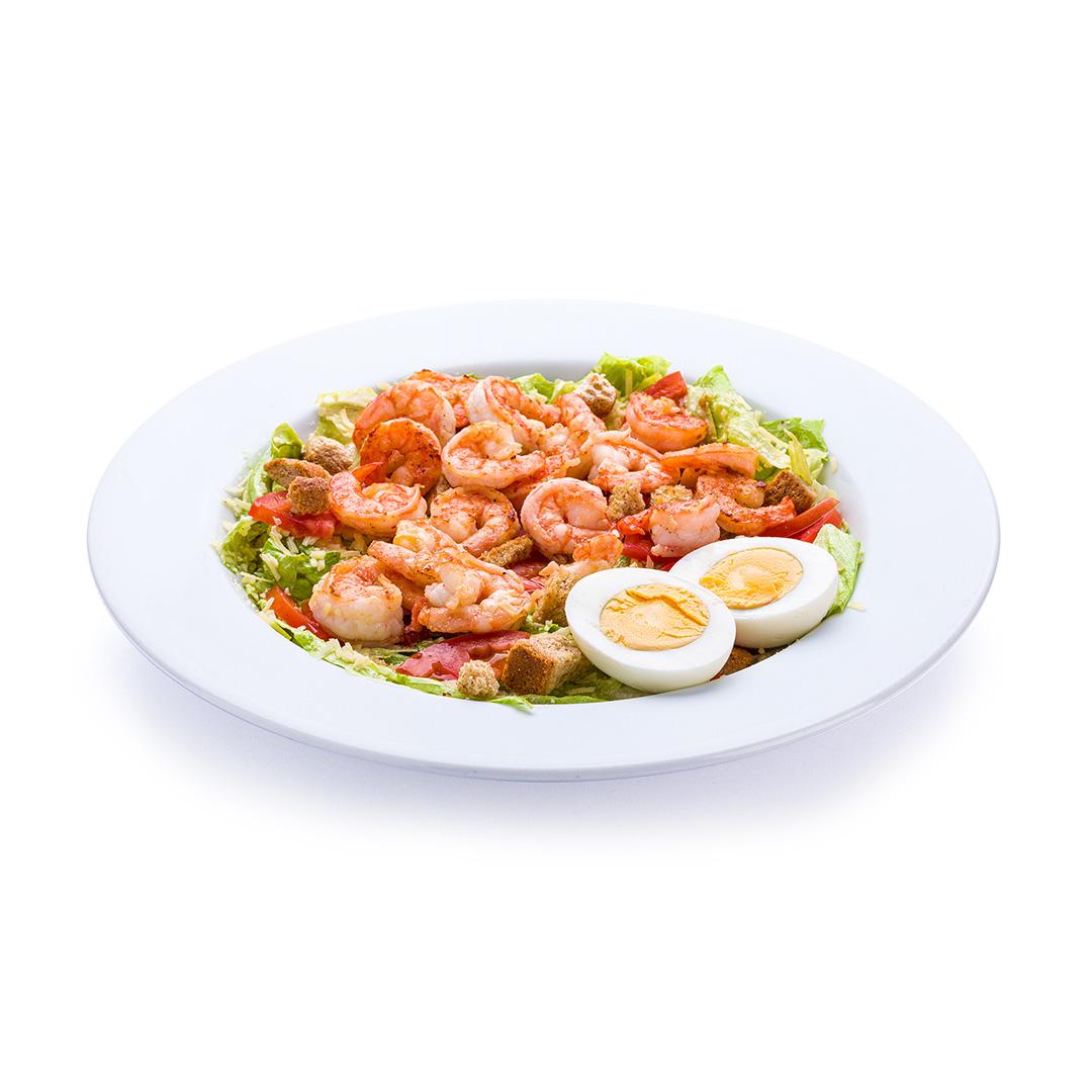 Caesar Salad com Camarões