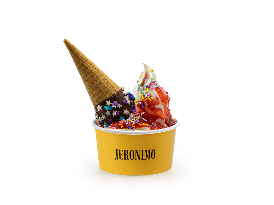 Jeronimo ICE com Calda de Chocolate M