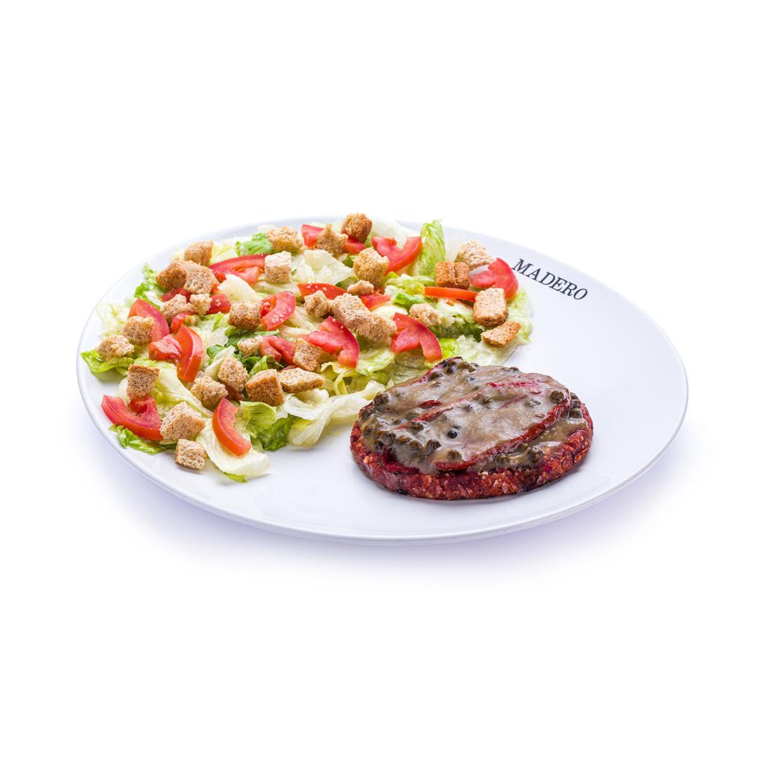 Caesar Salad com Madero Burger Vegano
