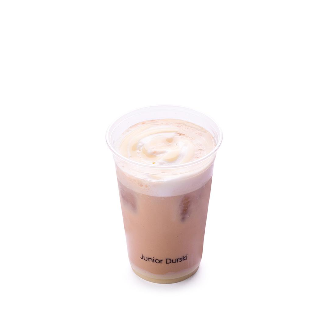 Iced Café Mocha com Calda de Chocolate Branco e Leite Vegetal de Castanha M