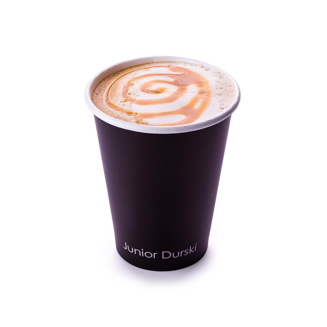 Cappuccino com Calda de Doce de Leite e Leite Vegetal de Castanha M