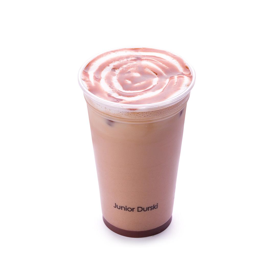 Iced Cappuccino com Calda de Brigadeiro e Leite Vegetal de Castanha M