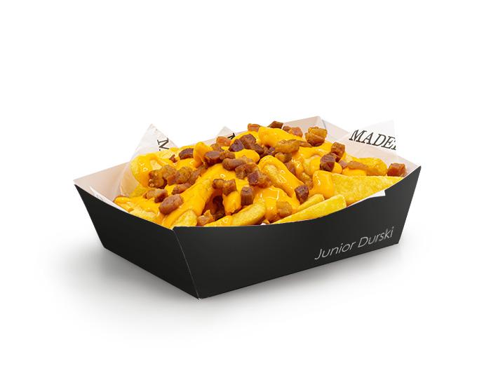 Cesta de Batatas Fritas com Molho de Parmesão e Bacon