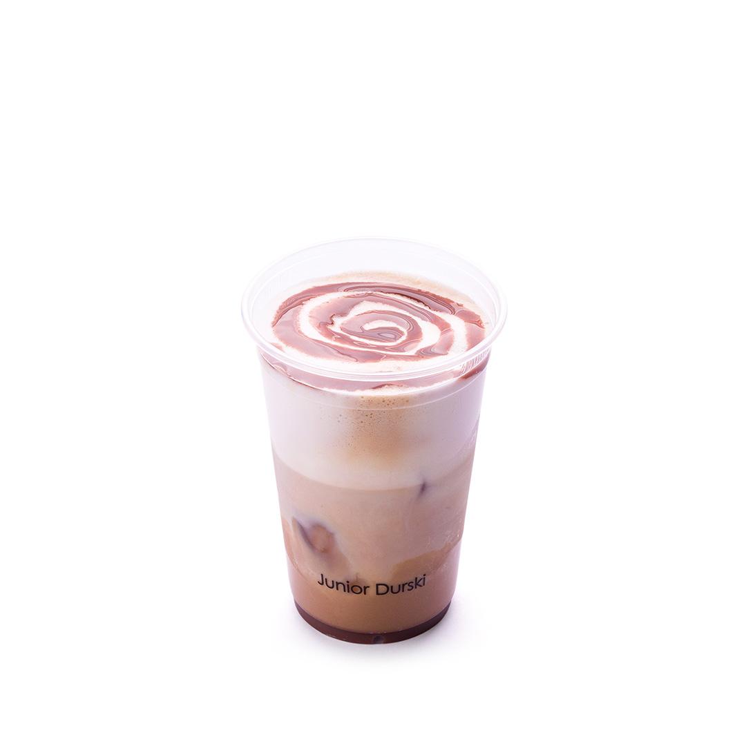 Iced Cappuccino com Calda de Brigadeiro e Leite Vegetal de Castanha P