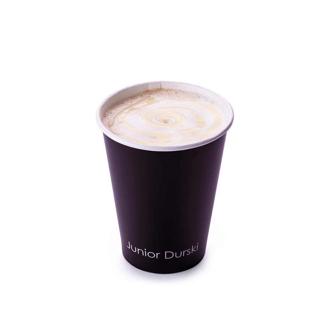 Cappuccino com Calda de Chocolate Branco e Leite Vegetal de Castanha P