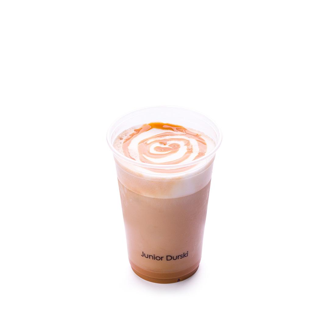 Iced Doce de Leite Latte com Leite Vegetal de Castanha P