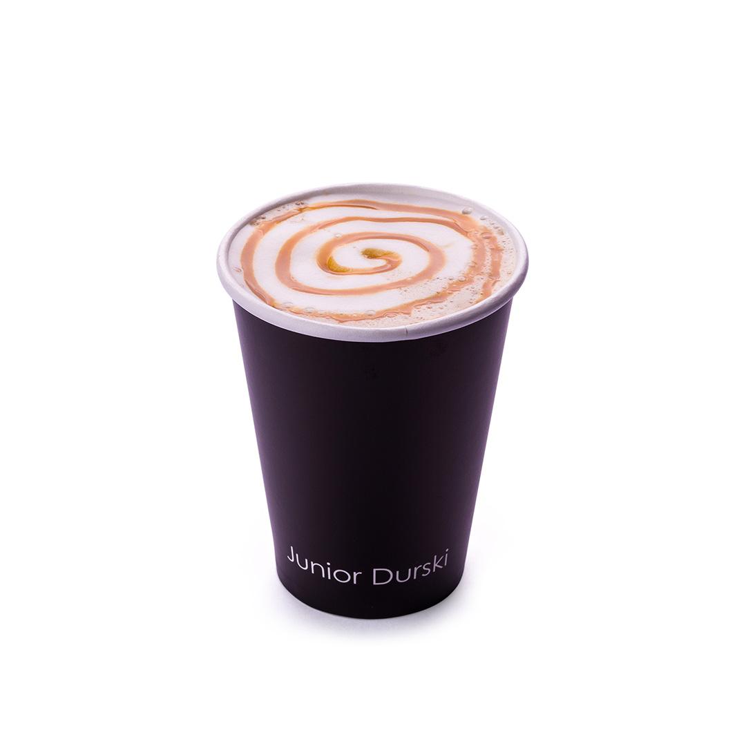 Cappuccino com Calda de Doce de Leite e Leite Vegetal de Castanha P